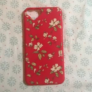 iPhone 7 plus Red Floral Case